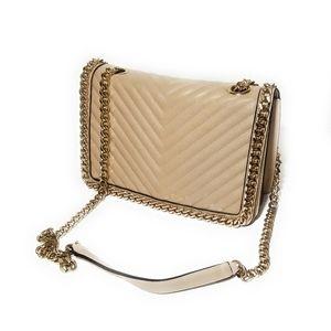 ALDO Blush Pink Quilted Flap Bag Crossbody Purse